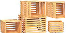 Wooden Slatted-Crates