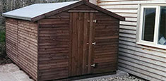 Wooden Back Garden Sheds