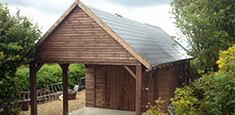 Wooden Carport Somerset