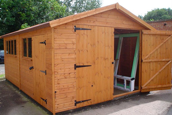 Storage shed sheds storage for Flat pack garden decking