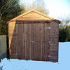 wood frame garages